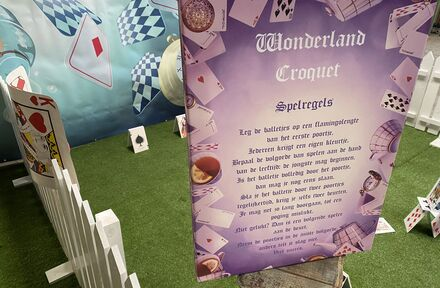 Croquet spel Alice in Wonderland - Foto 1