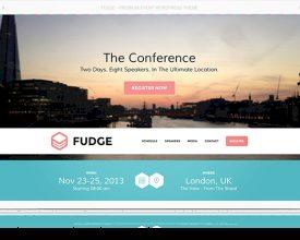 Fudge: A Beautiful WordPress Theme for Conferences