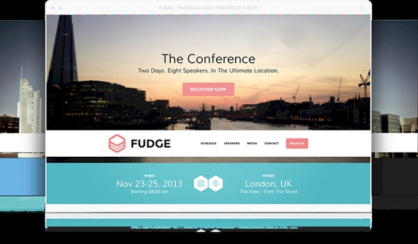 Fudge: A Beautiful WordPress Theme for Conferences